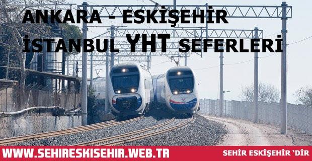 Ankara - Eskişehir ve Ankara Arasında Her Gün İşleyen Yüksek Hızlı Trenler